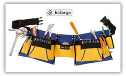Pocketed Builders Tool Belt